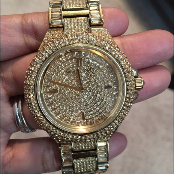 c340d6c8eace Michael Kors MK5720 Camille GoldTone Crystal Watch.  M 57d447be13302a193601762a