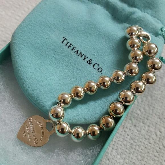 Tiffany Heart Bracelet >> Tiffany & Co. Jewelry | Tiffany Bead Bracelet 65 Sterling Silver | Poshmark