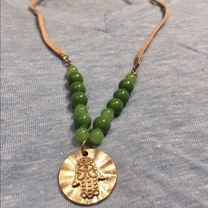 Other - Good luck choker necklace with green beads