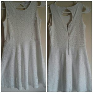 Sally Miller Other - Beautiful baby powder white crochet/lace dress XL