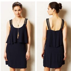 Tisana Anthropologie dress (dark navy)