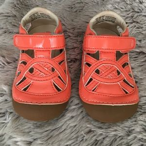 Stride Rite Other - Coral Patent Leather Uma Sandals-Like New