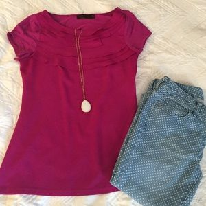 The Limited Tops - Fuchsia Top -- The Limited