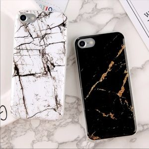 Accessories - IPHONE 7 8 PLUS CASE MARBLE BLACK OR WHITE NEW