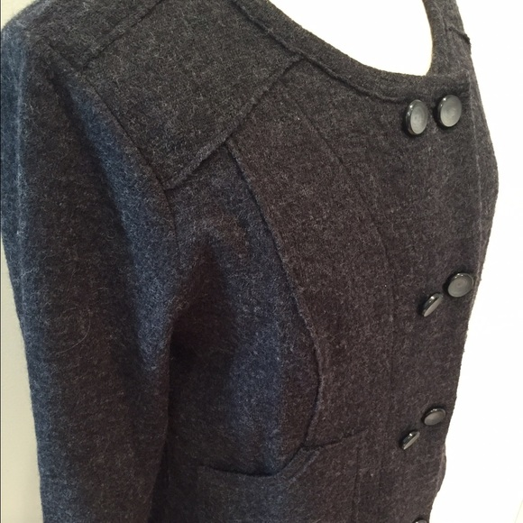 CAbi Sweaters - CAbi charcoal double breasted sweater jacket SALE