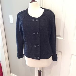 CAbi Sweaters - CAbi charcoal double breasted sweater jacket
