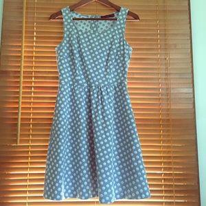 The Limited Sleeveless Polkadot Dress