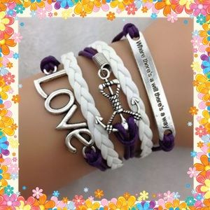 Jewelry - 🆕 Hot retro love anchor leather bracelet