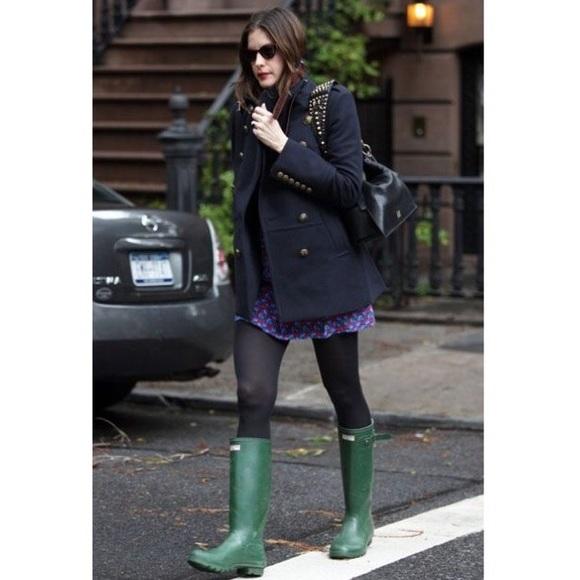 60% off Hunter Shoes - US 6M/7F Tall Dark Green Hunter Rain Boots ...