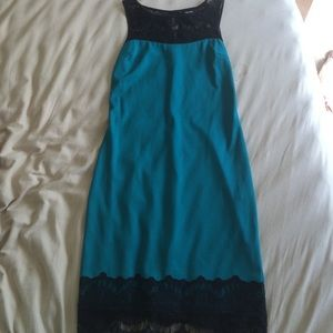 NWT teal dress with lace