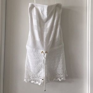 BRAND NEW Lily Pulitzer white lace romper