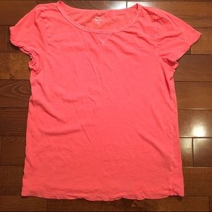J. Crew Tops - Vintage cotton tee in neon orange