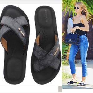 05d111670e94be Coach Shoes - New COACH Janine Black Slides Sandals