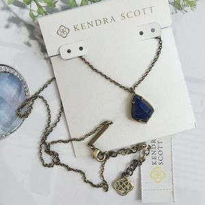 Kendra Scott Cory Lapis Necklace. Price firm.