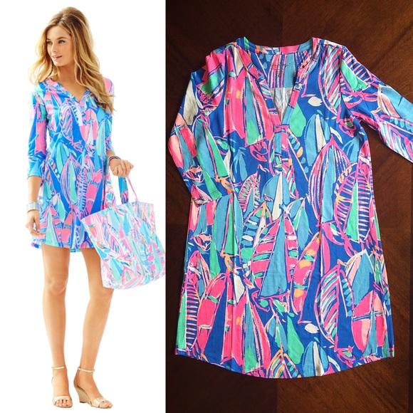 d55dae028d5853 Lilly Pulitzer Dresses | Ali Dress Bay Blue | Poshmark