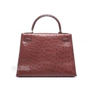 340b196b037b Hermes Bags - Hermes Rouge H Ostrich Sellier Kelly 28 Bag