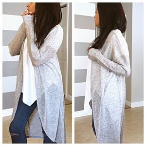 Sweaters - •LAST ONE• Silver marble soft cardigan