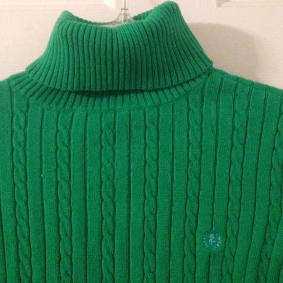 58% off Izod Sweaters - Cute Kelly green turtleneck sweater from ...