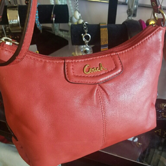 coach bags coral leather crossbody sling bag poshmark rh poshmark com coach pebbled leather sling bag