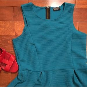 Papermoon Dresses & Skirts - Teal fit and flare sleeveless dress