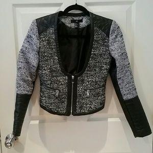 H&M Tweed Biker Jacket