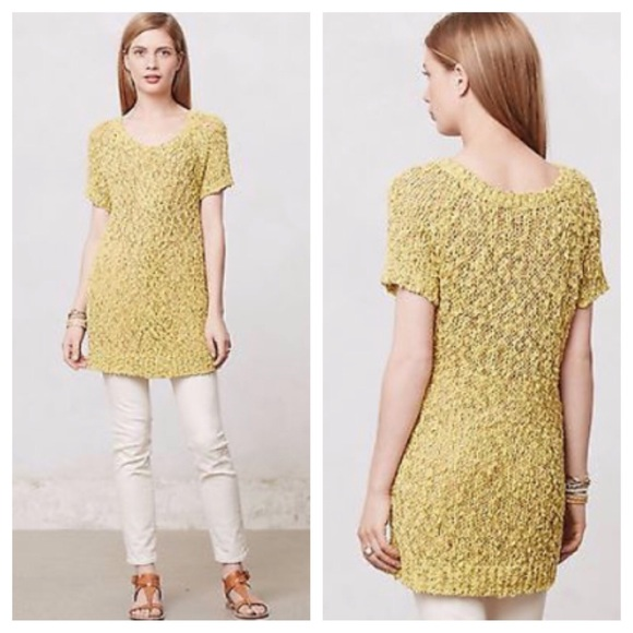 82% off Anthropologie Sweaters - Anthropologie Moth yellow sweater ...