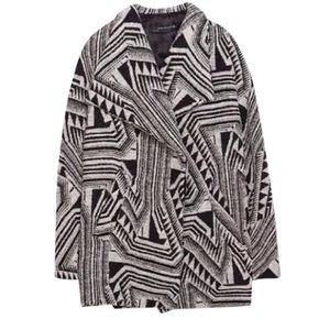 Zara Jackets & Blazers - Zara tribal patterned coat
