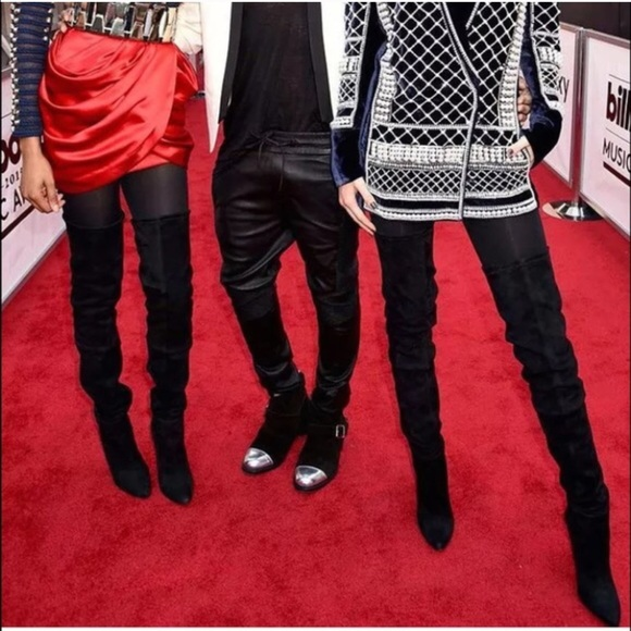 balmain balmain x h m thigh high boots from l s closet