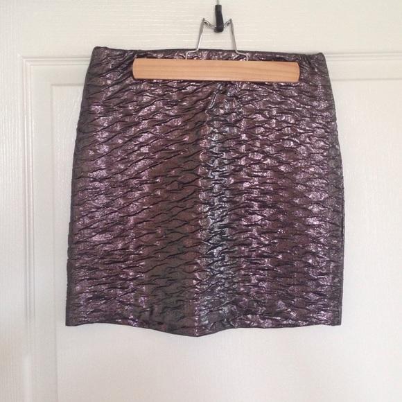 BCBGeneration Dresses & Skirts - BCBGeneration metallic mini skirt
