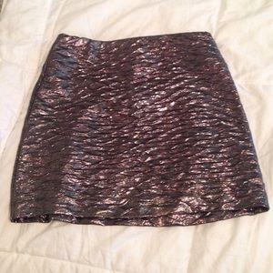 BCBGeneration Skirts - BCBGeneration metallic mini skirt