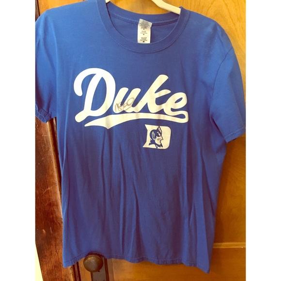 promo code 76922 10d78 Autographed Mike Stud Duke Baseball Shirt