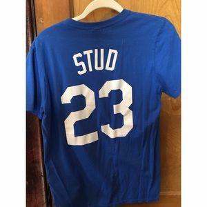 5de263586e2 Tops - Autographed Mike Stud Duke Baseball Shirt