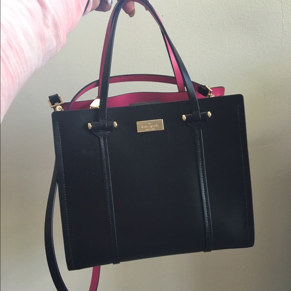 5% off kate spade Handbags - NWT KATE SPADE BAG IN BLACK WITH HOT ...
