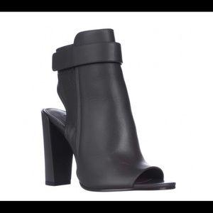 Vince Brigham Peep-toe open heel angle boots