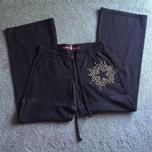 TWISTED HEART Pants - Rhinestone sweat pants