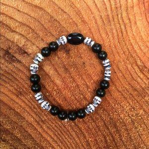 Jewelry - Skull and Bead Bracelet