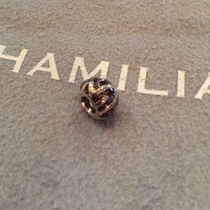 Chamilia PEAKS OF BURGANDY Sterling silver charm