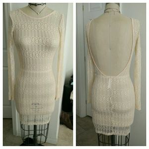 Lace open Back Tight Dress. New but no tags