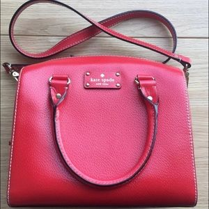 Kate Spade red Wellesley Alessa Handbag...