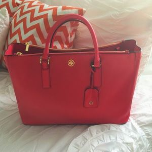 Tory Burch Handbags - Brand new carnival red Tory Burch Robinson Tote