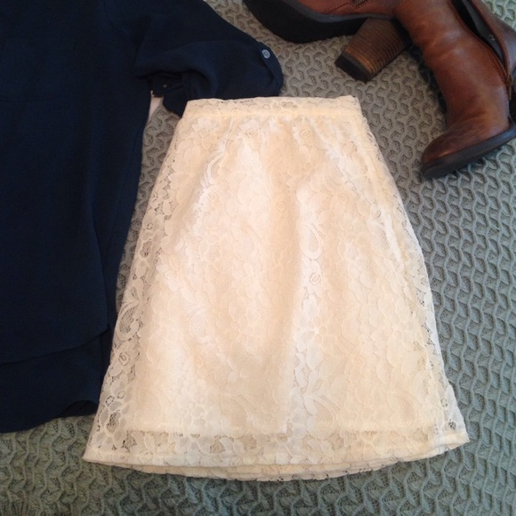 BCBGeneration Dresses & Skirts - BCBGeneration ivory lace skirt