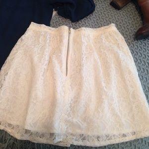 BCBGeneration Skirts - BCBGeneration ivory lace skirt