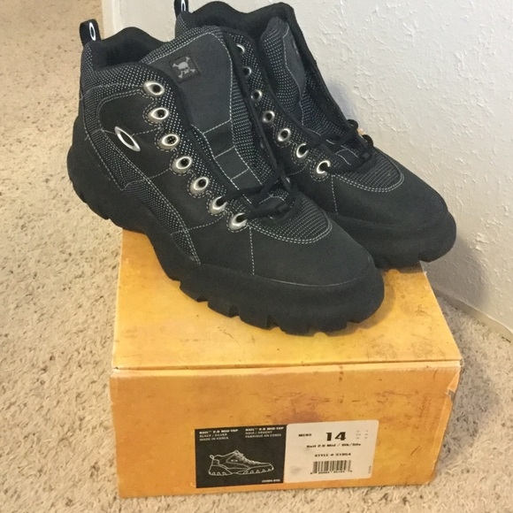 ce742fe08899 Oakley Nail 2.0 Mid Top Lace Up Boots Sz 14 Black