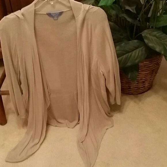 57% off Simply Vera Vera Wang Sweaters - Simply Vera Taupe ...