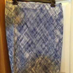 Attyre Dresses & Skirts - Blue & White Printed Skirt
