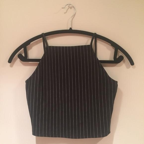 Zara pinstripe crop top. M 57d4a02eb4188ebbea0221ac 51f285b1bcb