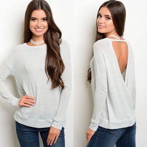 SALE Open Wrap Back Lightweight Sweater