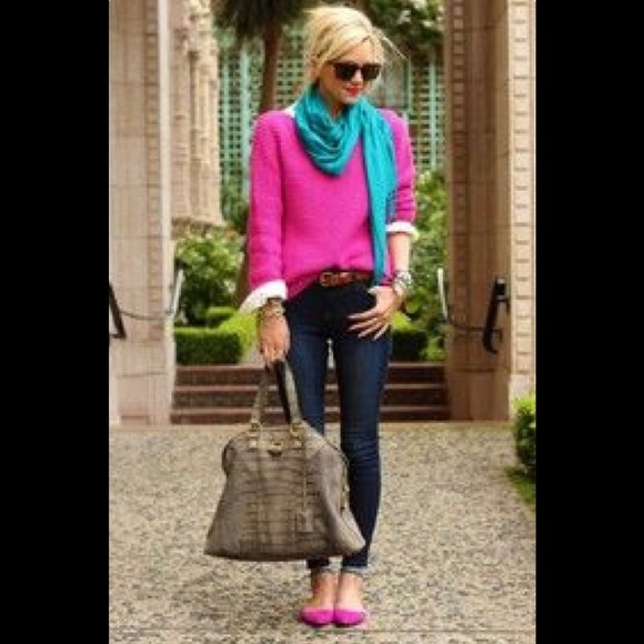 73% off J. Crew Sweaters - Fuchsia Cashmere Sweater from Molly's ...