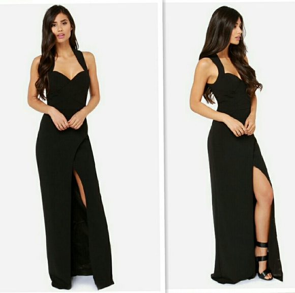 Missguided Dresses | Bariano Katja Black Sweetheart Maxi Prom Dress ...