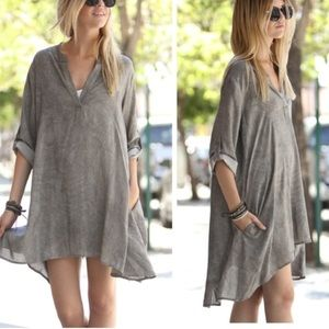 •stonewashed tunic dress•